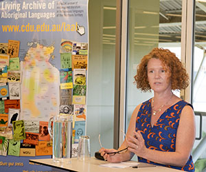 """Dr Samantha Disbray, co-editor of """"History of Bilingual Education in the Northern Territory"""""""
