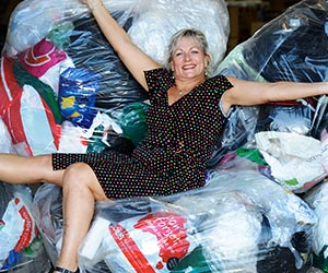 Esther Lloyd-Taylor organises a soft plastics recycling scheme at Charles Darwin University. Photo: Clive Hyde