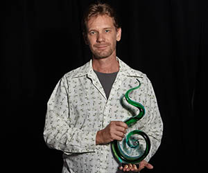 Charles Darwin University's Rohan Fisher won Researcher of the Year at the Territory Natural Resource Management awards. Photo: Shane Eecen