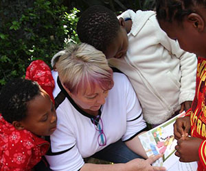 Charles Darwin University postgraduate student Judith Taylor researches caregiver attachment at a children's home in South Africa