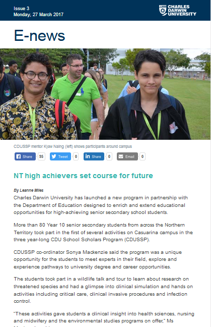E-News - NT high achievers set course for future thumbnail