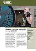 Graduate Certificate of Coaching Science