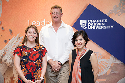 2018 Northern Territory Fulbright Scholars (L-R) Ms Amy Dennison, Dr David Crook and Dr Anna Ralph.