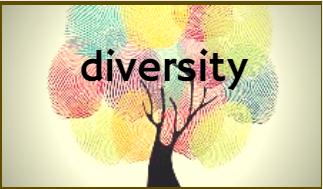 multi coloured picture of a tree with the word diversity