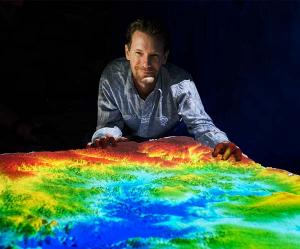 Charles Darwin University Researcher, Rohan Fisher, with the award-winning 3D mapping tool.