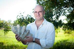 Mr Penny has found there are more species of giant clam in northern waters than was previously thought