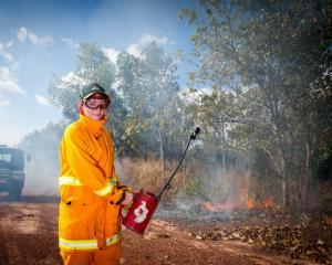 Conservation and Land Management student Georgina Davies was part of the first CDU cohort to complete bushfire fighting training