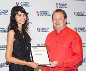 Scholarship recipient Shannon Kieran with Head of the School of Psychological and Clinical Sciences Professor Timothy Skinner