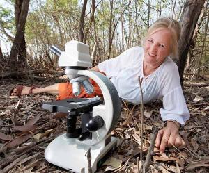 Dr Alice Mitchell taking science into the bush.