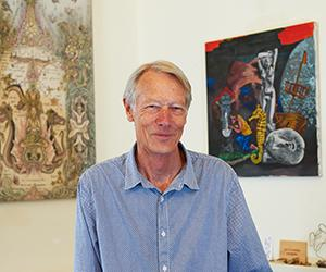 Scholar, art collector and curator, Christopher Hill in 2014. Photographer: Rob Fyfe