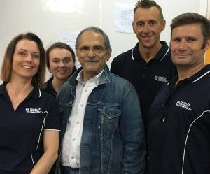 From left - Hannah Seymour, Lara Whitehouse, Jose Ramos-Horta, Stuart Evans and John Smallacombe