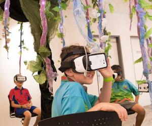 Students enjoyed a virtual reality experience as part of the inaugural program.