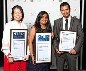 (From left): Amy Zhang, Navjot Kaur and Shree Lamichhane