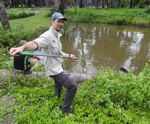 CDU Outstanding Professor Sam Banks is mapping the genetic diversity and movement of crocodiles across northern Australia and southeast Asia