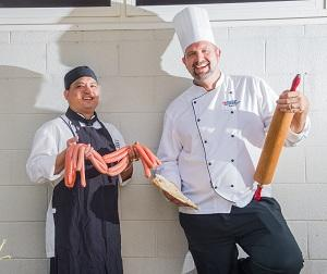 Food lovers can roll into NT Food Week. From left: Commercial Cookery and Bakery team leader Robert Schwerdt and lecturer Antonio Tjung