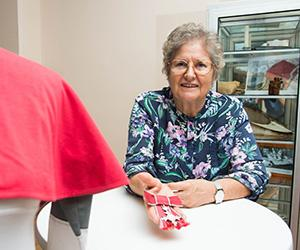 Nursing Museum Curator Janie Mason is working toward a better record management system.