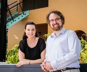Globetrotting law academics Joe and Juliette McIntyre have joined CDU