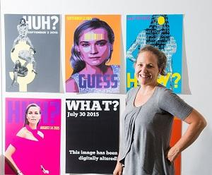 Elizabeth Grylls has created brightly coloured mock magazine posters for her honours exhibition at CDU