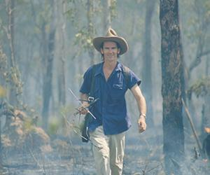 PhD graduand Tony Griffiths says fire is a contributing factor to the decline in native small mammal populations
