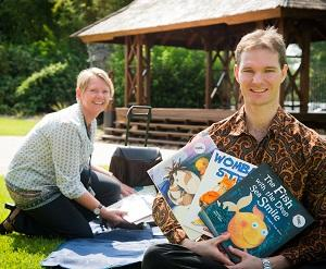 Language student Sally-Anne Hodgetts created the mobile library, which was delivered recently to Indonesian university students by CDU lecturer Dr Nathan Franklin