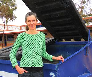 "Ms O'Leary: ""The environmental gains of recycling in Alice Springs outweigh the costs."""