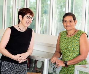 Professor Sue Kildea (left) and Associate Professor Yvette Roe: redesigning maternity services for better outcomes for First Australians