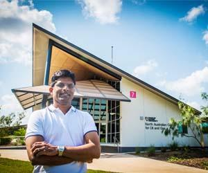 Professor Suresh Thennadil is excited about his new position and the possibilities of the emerging oil and gas industry in the Northern Territory