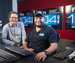 Breakfast show host Johnny McKay to depart after five years on air at Territory FM. Pictured with Station Manager Jih Seymour