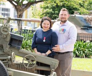 From left – Hannah Taino-Spick and Mick Spick are contemporary veterans pursuing education as part of civilian life.