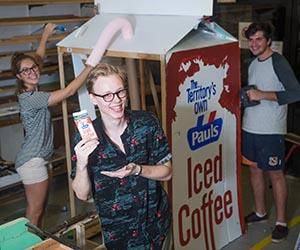 Installation made for the conference by CDU visual arts students, from left: Sarah Alexander, Kyle James and James Olsen