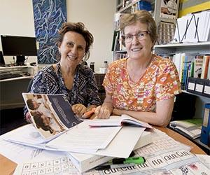 (From left): Dr Michele Willsher and Professor Sue Shore prepare for departure to Lao.