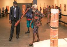 More than 50 of master bark painter John Mawurndjul's most celebrated artworks will be showcased in the exhibition