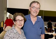 Jan Moore and Emeritus Professor Alan Powell
