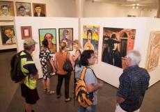 Art creates a buzz among revellers on opening night