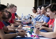 Speed-friending activities helped new students become familiar with each other