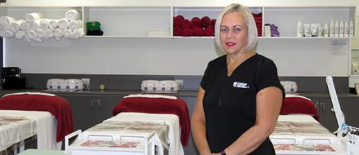 Beauty therapy lecturer Tracie Lane