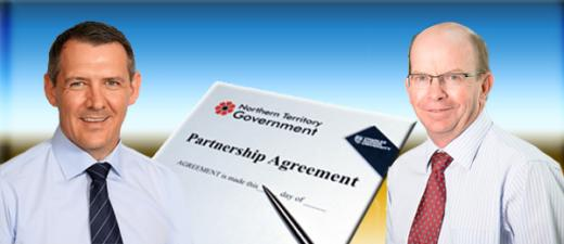 Chief Minister Michael Gunner and Professor Simon Maddocks welcome the seven-year agreement