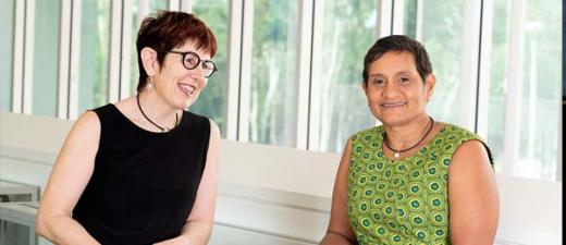 Co-Directors of the Molly Wardaguga Research Centre, Associate Professor Sue Kildea and Professor Yvette Roe