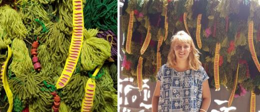 #VOTEPLANTWALL for Abbey Murray's pom pom bomb in a new exhibition at Darwin Waterfront