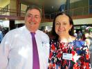 Mayor Damien Ryan and Robyn Lambley MLA.