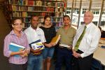 VC Barney Glover with Indigenous students in the CDU Library Casuarina, 2010