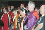 Graduation Ceremony 2003  with (L-R) Nan Giese, Helen Garnett, Charles Webb and Don Zoellner, 2003.