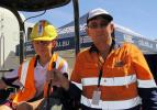 Dion Sewell learns new skills on an excavator, under the supervision of Civil Construction Trainer Barry Whalan