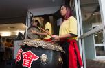 Emily Tjung bangs the drum for the Chung Wah Society