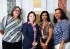 Office of Aboriginal Affairs staff Louise Beilby, CEO of the Department of the Chief Minister Jodie Ryan, Cindell Cray and Jeanie Gorall