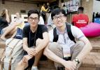 Hung Nguyen and Gongkai Chen wait for academic sessions to begin