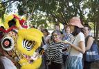 Chinese Lion dancers perform at the International Student Welcome
