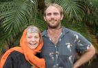 Karen Dempsey and Matthew Owen act as internally displaced Sebedohans to help immerse students in the simulated disaster