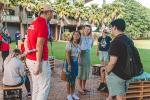 Students engaged in tours and activities during Orientation Week