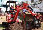 Felix Brown gives the one tonne digger a work out